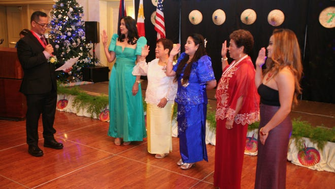 The Filipino Ladies Association of Guam inducted new members to the organization on Jan. 6, 2017. They were sworn into office by Senator Frank Aguon, Jr.