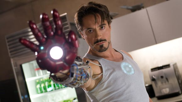 """Inadvertently or not, Robert Downey Jr. had a meta shout-out to Michael Keaton's Batman in """"Iron Man."""""""