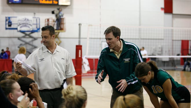 Current CU coach Jesse Mahoney, right, was an assistant at CSU under Tom Hilbert, left, from 2005-11. Mahoney's Buffs play the Rams at 7 p.m. Saturday.