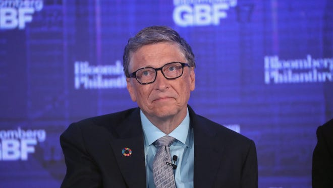 Bill Gates takes part in the Bloomberg Global Business Forum on Wednesday in New York City. Heads of state and international business leaders met to discuss global issues and challenges to economic growth. The inaugural year of the forum was held concurrently with the United Nations General Assembly in New York City.
