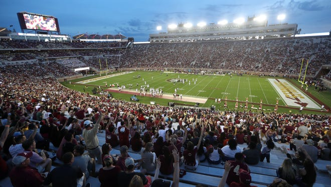 Fans pack the house for the Seminoles Garnet and Gold Spring Game at Doak Campbell Stadium on Saturday, April 14, 2018.