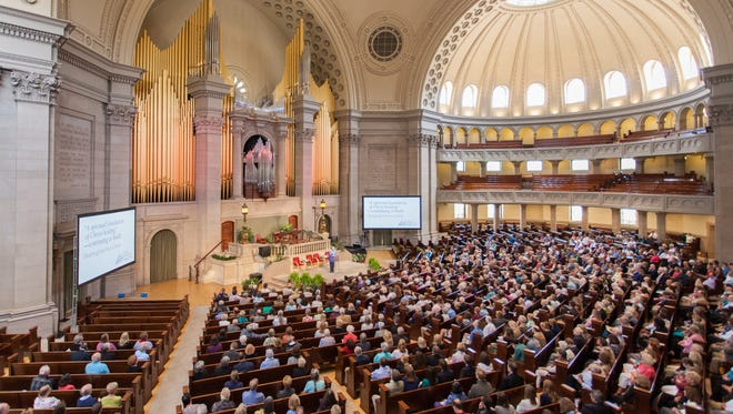 Christian Scientists gather for their Annual Meeting at The First Church of Christ, Scientist, in Boston, Massachusetts.