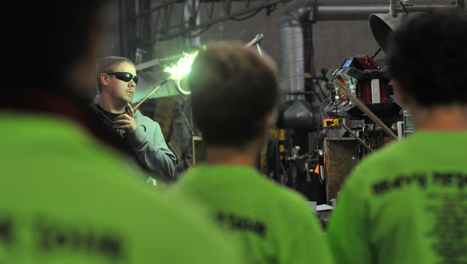 Local middle school students visit J&D Tube Benders in Weston, as part of the Heavy Metal Tour program Wednesday morning. More than 3,500 eight graders in northcentral Wisconsin visited two of 55 participating employers and Northcentral Technical College to learn about the manufacturing industry.