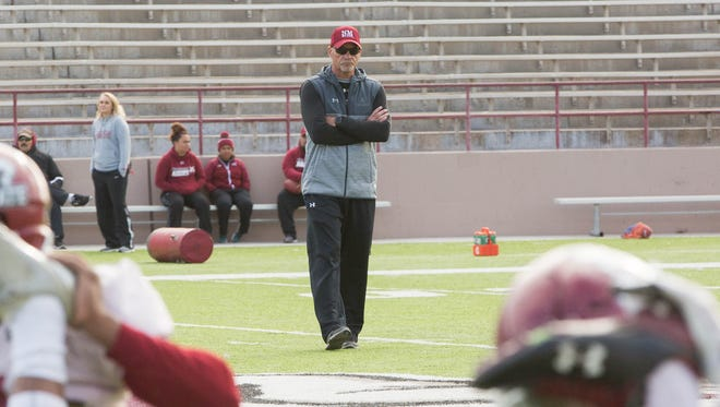 NMSU head coach Doug Martin and the Aggies look for their third straight win over rival New Mexico on Saturday.