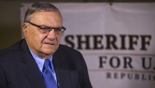 Former Maricopa County Sheriff Joe Arpaio poses in his Fountain Hills campaign office on June 1, 2018.