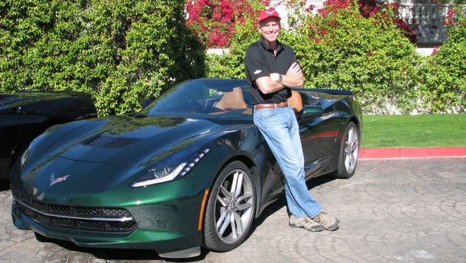 Tadge Juechter, chief engineer for Corvette, shows off the new convertible in Pam Springs