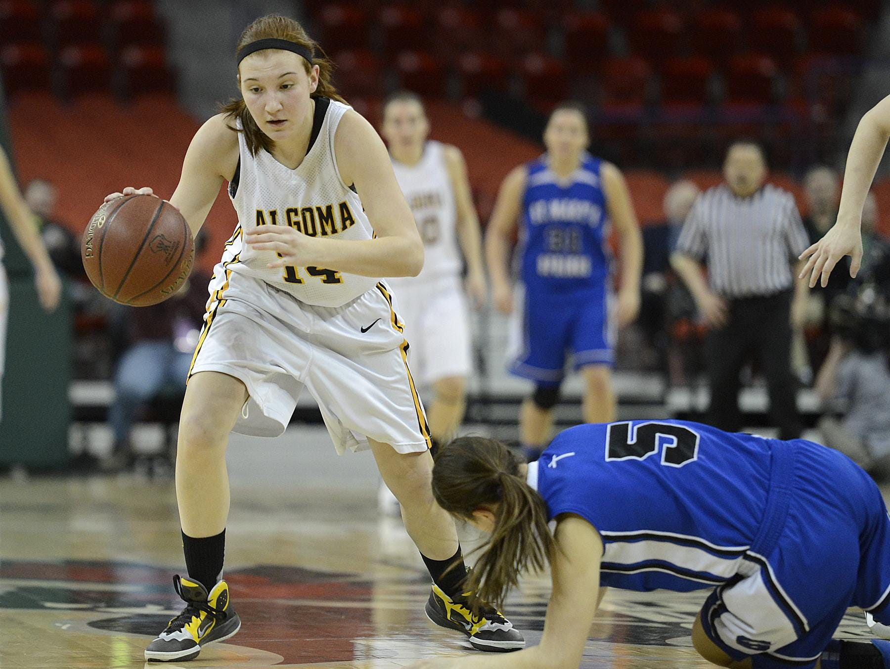Algoma's Baleigh Delorit has made a verbal commitment to play basketball at Northern Michigan University.