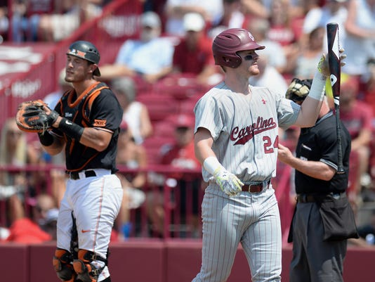 South Carolina Oklahoma State NCAA super regional baseball