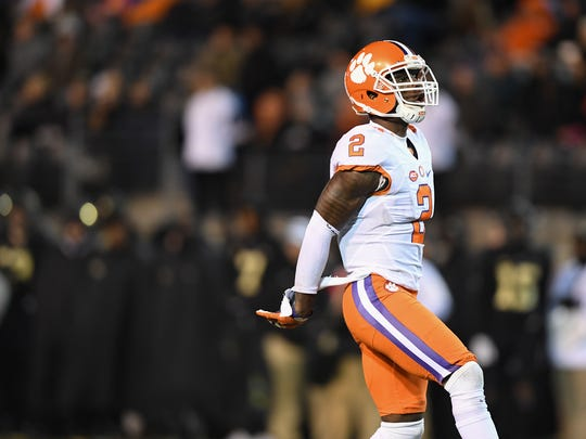 Clemson cornerback Mark Fields (2) during the 3rd quarter at Wake Forest's BB&T field on Saturday, November 19, 2016.