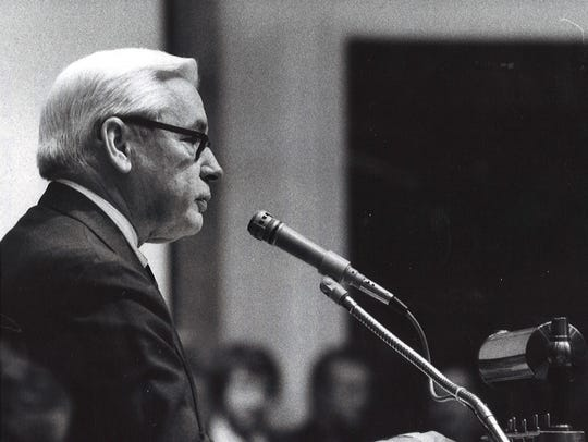 Chief Justice John Palmore delivering annual state