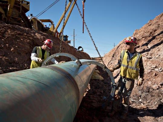 Construction Along The Keystone XL Pipeline