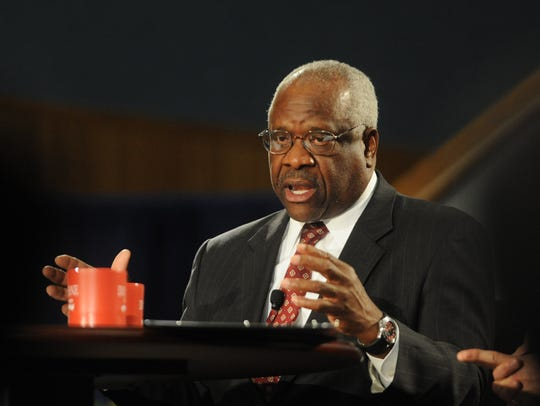 Supreme Court Justice Clarence Thomas completed the