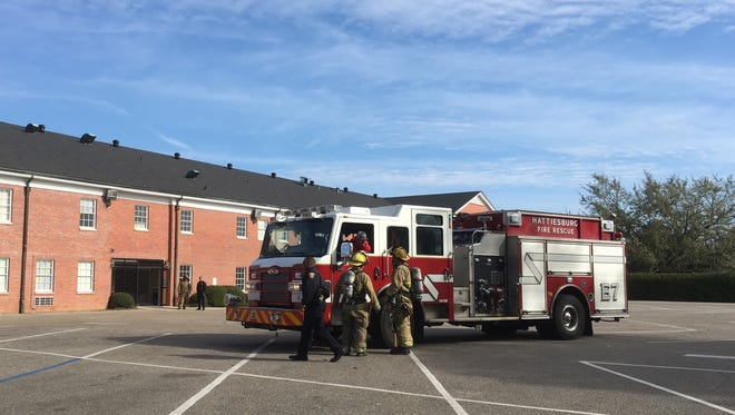 Hattiesburg firefighters responded to an alarm call Tuesday morning at Sacred Heart High School. No fire was found.