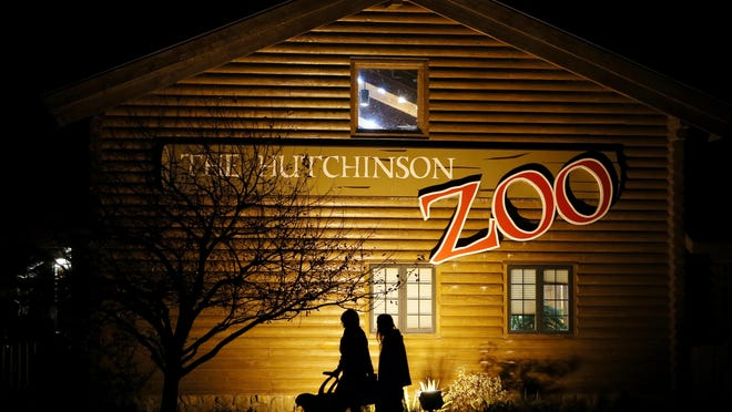 People arrive for the Hutchinson Zoo's annual Nights Before Christmas in December 2016. An upgrade to the zoo's electrical system was awarded by the city council this week, which will better enable events such as this at the facility.