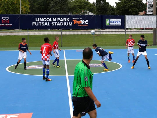 Wisconsin Sports Group spent $30,000 in 2016 to transform four underused and deteriorated tennis courts at Lincoln Park into a Futsal Stadium with two courts. This is an example of how private groups can help the county reduce its deferred maintenance backlog and create new recreational opportunities at no cost to the public.