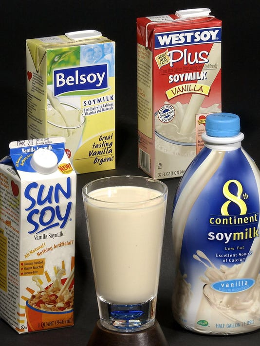 Various brands of soy milk