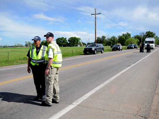 A cyclist was severely injured after an accident involving an SUV and a truck pulling a trailer about one quarter of a mile north of the intersection of E. Vine Drive and S. Lemay Avenue and was taken to the Medical Center of the Rockies in Loveland Saturday, June 6, 2015.