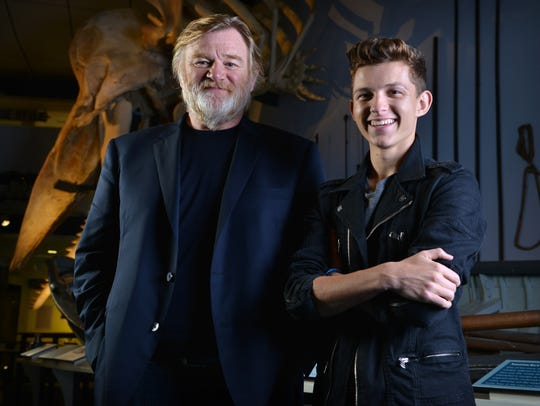 Tom Holland, right, with his 'In the Heart of the Sea'