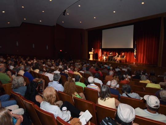 """The crowd in attendance at the """"Get the Facts: Lyme Disease"""" forum at Marist College on Wednesday."""