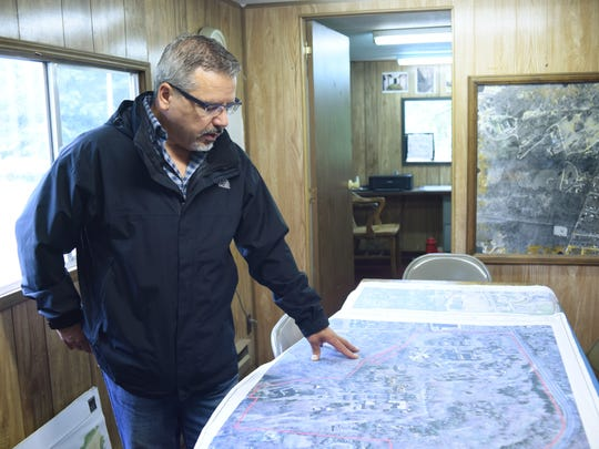 Nicholas W. Minoia, a managing partner of Diversified Realty Advisors, LLC, goes over the redevelopment plan of the Hudson River Psychiatric Center located in the Town of Poughkeepsie.