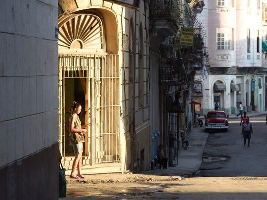 Old Havana streets in Havana, Cuba.