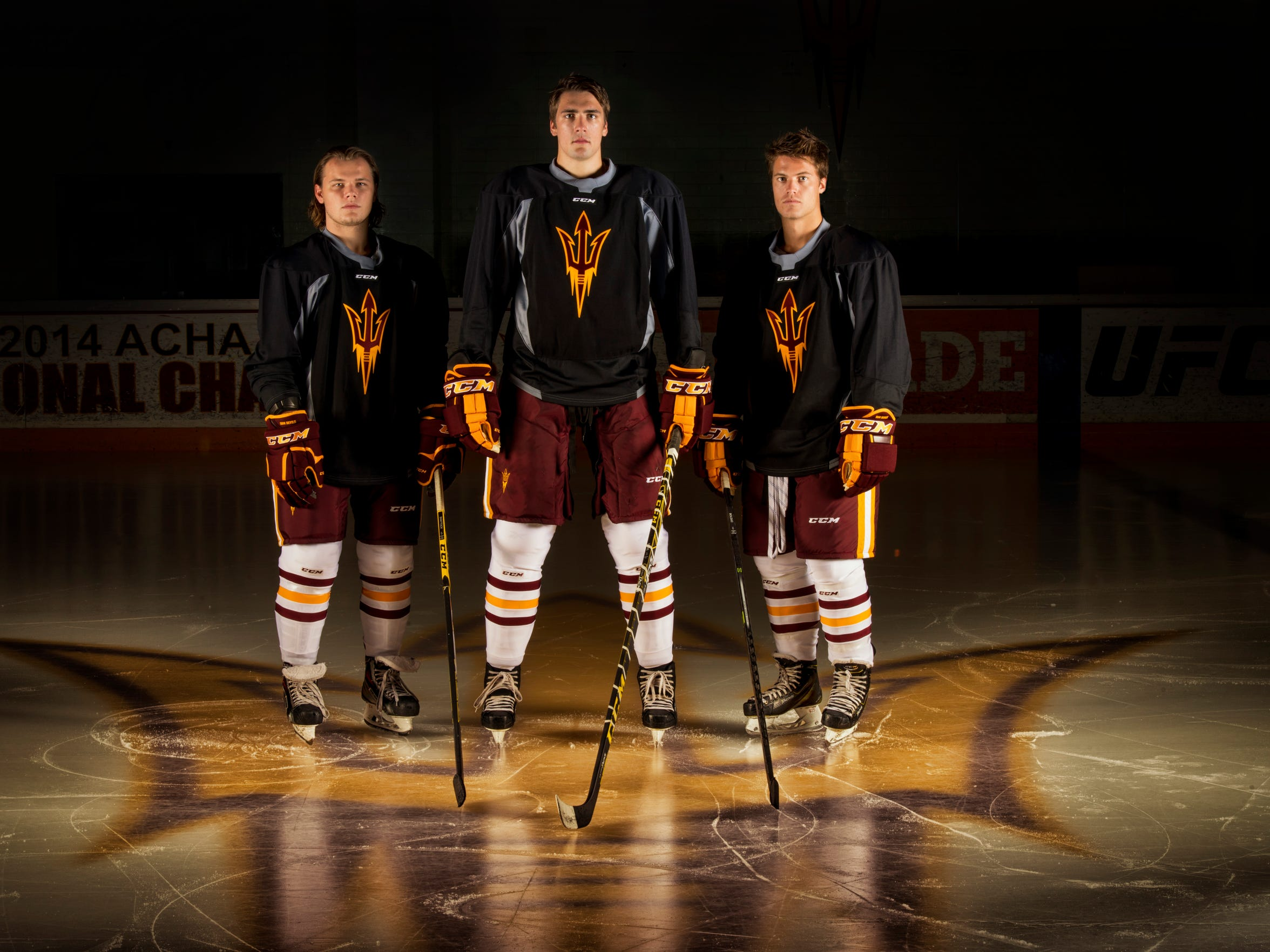 Connor Schmidt, Louie Rowe and Liam Norris (L-R) are