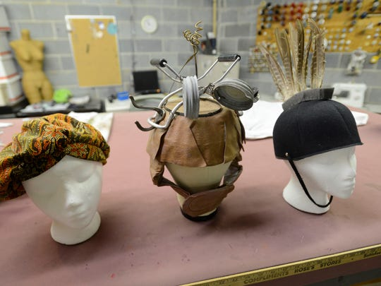 """Here are three hats used in the production of """"Young Frankenstein"""" at the Asheville Community Theater on Friday, October 2, 2015. The show runs through October 25."""