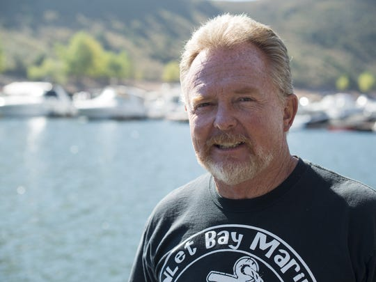 Glen Werth owns and operates the Inlet Bay Marina on Horsetooth Reservoir, overseeing docks and crew members during the summer months.