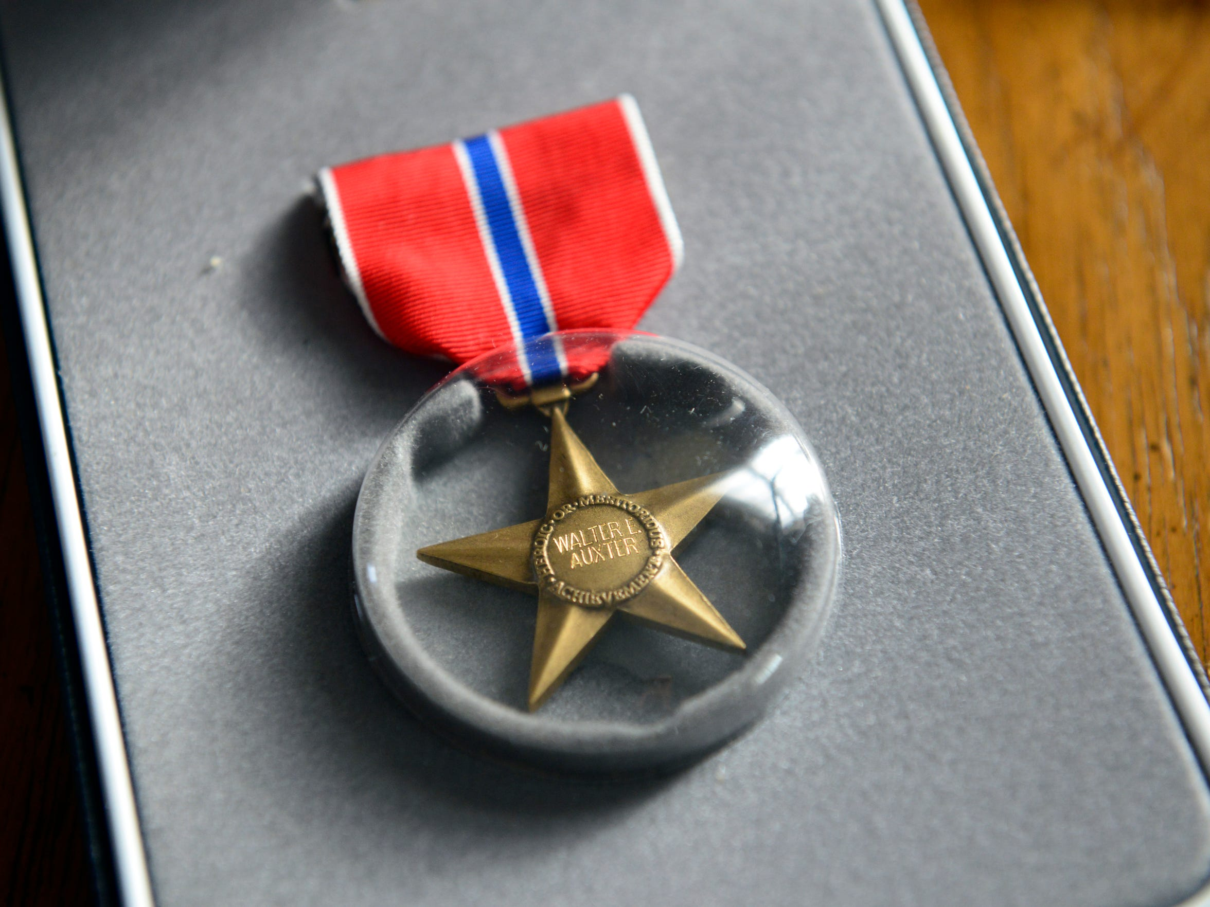 Walter Auxter was awarded The Bronze Star Medal for