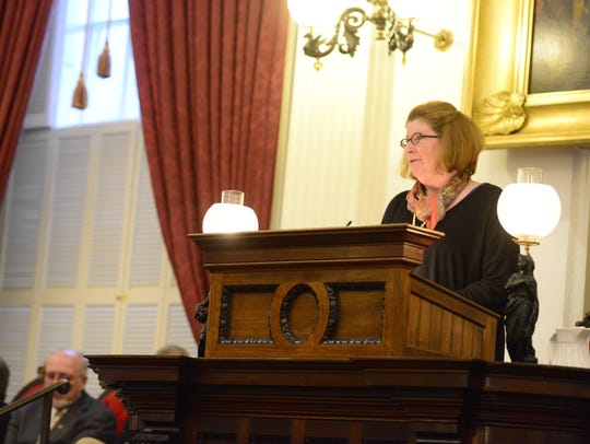 Vermont Sen. Diane Snelling speaks about her mother,