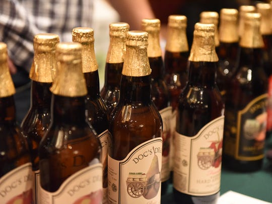 Doc's Hard Cider-based in Warwick offered Wine and Chocolate Festival-goers Sunday a chance to try seasons flavors which combined hints of berry.