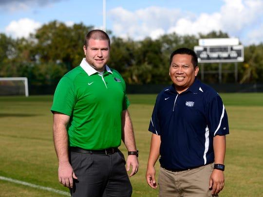 University of West Florida's Jake Marg, left, and Tony