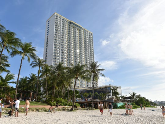 The Dusit Thani Guam hotel under construction in Tumon,