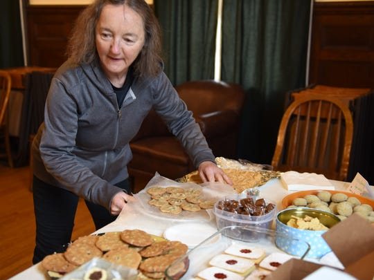 Chocolate chip cookies were one of the few varieties shared at the Cookie Swap Party at Morton Memorial Library in Rhinecliff Sunday.