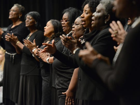 Combined choir performs during Martin Luther King Jr.