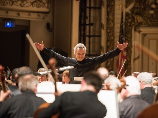 Louis Langrée with the Cincinnati Symphony Orchestra in Music Hall, MusicNOW Festival.