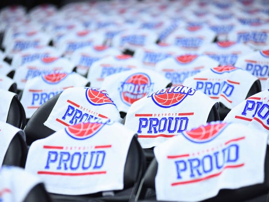 A detailed view of rally towels on the seats before