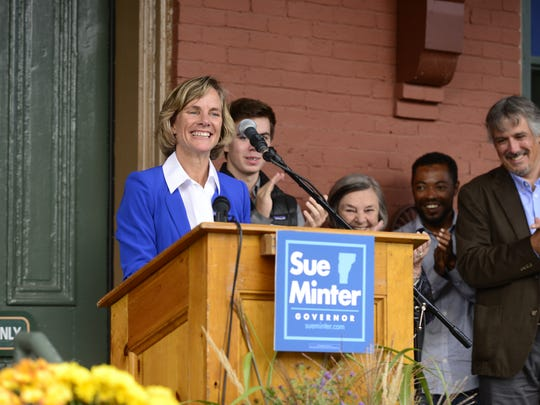 Sue Minter kicks off her campaign on October 6, 2015.