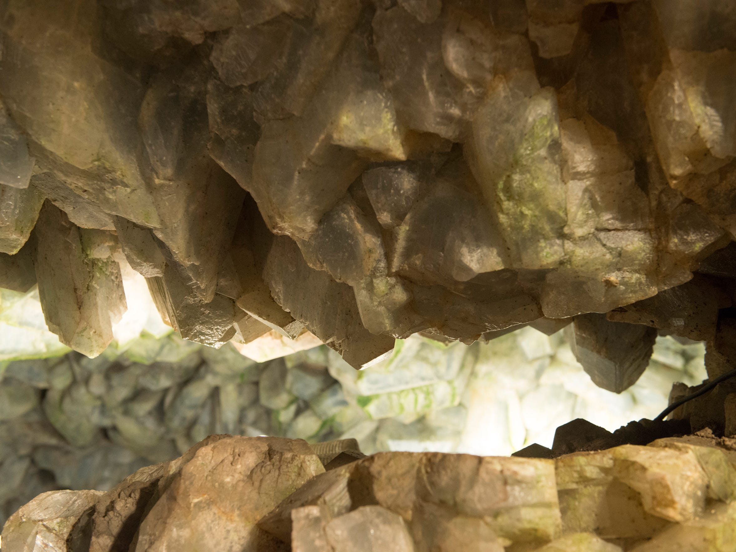 The Crystal Cave is 35 feet at the widest point, with celestine crystals up to 18 inches long.