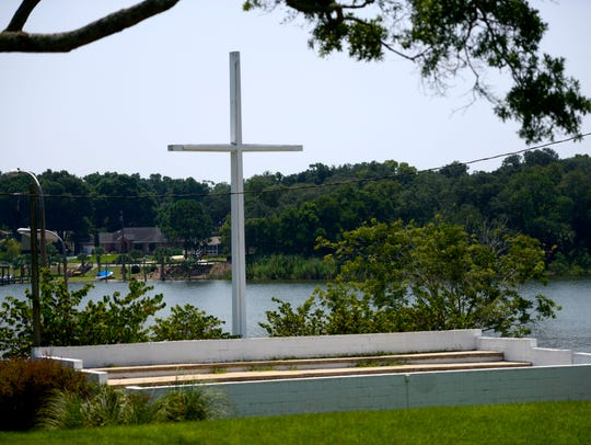 Cross at Bayview Park.