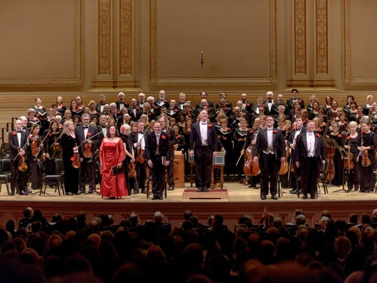 "Masterwork Chorus will perform Handel's ""Messiah"" in concert at Ridge Performing Arts Center on Dec.18 and at Carnegie Hall on Dec. 23. Since its founding in 1955, the Morristown-based group has performed the oratorio more than 250 times.The chorus is shown here at its 2014 performance at Carnegie Hall."