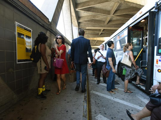 Since the GWB bus station was closed for renovation, commuters have had to navigate a single platform, less than 5 feet wide, to wait for buses.