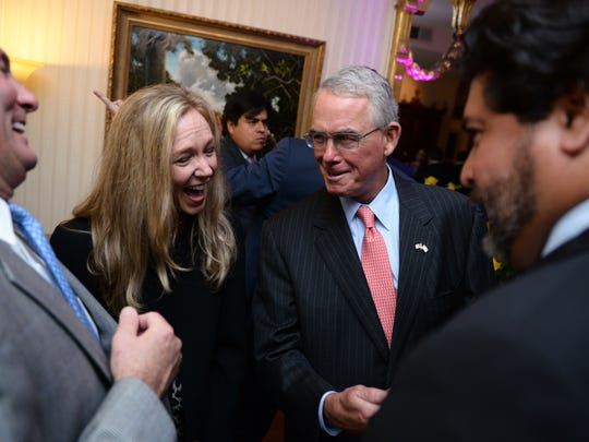 Left to right: colleagues John Reyhan, Karen Reyhan, Congressman-Elect Francis Rooney, and Xavier Neira, at a reception honoring Congressman-Elect Francis Rooney at Florida House, located at Number One Second Street NE, Washington, DC, Monday, January 1, 2017.