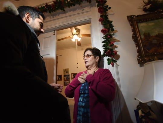 Maria Ruiz, aunt of 26-year-old Esteban Santiago, the
