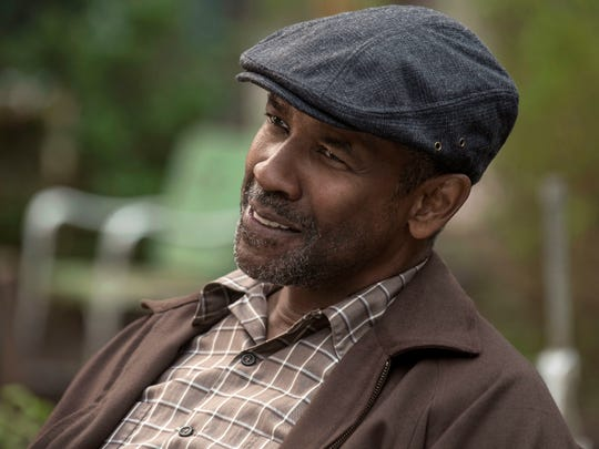 "Denzel Washington in a scene from ""Fences.""  Washington was nominated for an Oscar for best actor. The 89th Academy Awards ceremony is Feb. 26."