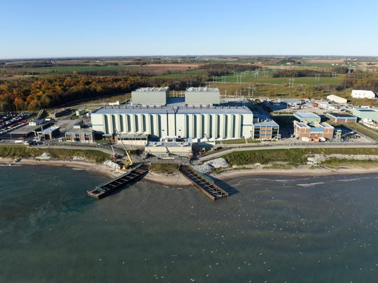 Aerial view of Point Beach Nuclear Plant in Two Rivers Oct. 14, 2015.
