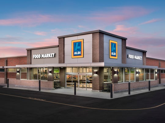 An example of an Aldi exterior.