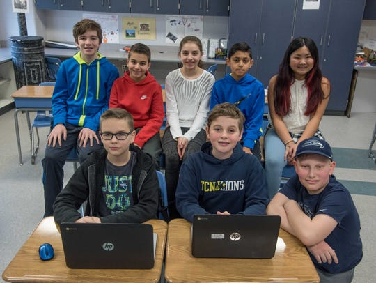 At Millstone Township Middle School, this is a team