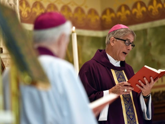 The Rev. Joseph R. Kopacz, bishop of the Diocese of Jackson, leads Mass at the Cathedral of St. Peter The Apostle Catholic Church in Jackson in this file photo.