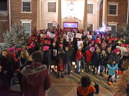 "The International Women's Day rally held in Glen Rock coincided with a ""Day Without a Woman.''."